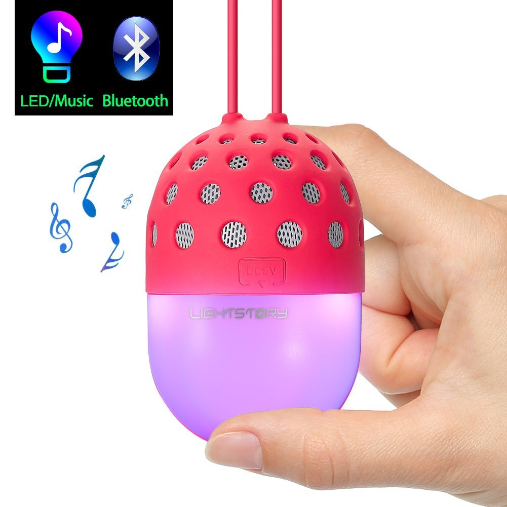 Lightstory Mini Bluetooth Speaker, Red