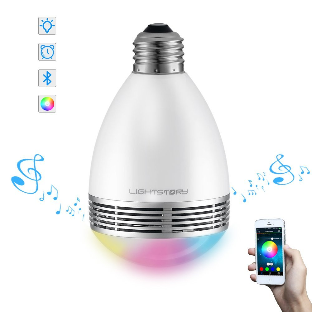 Lightstory Bluetooth Light Bulb Speaker, BL06A