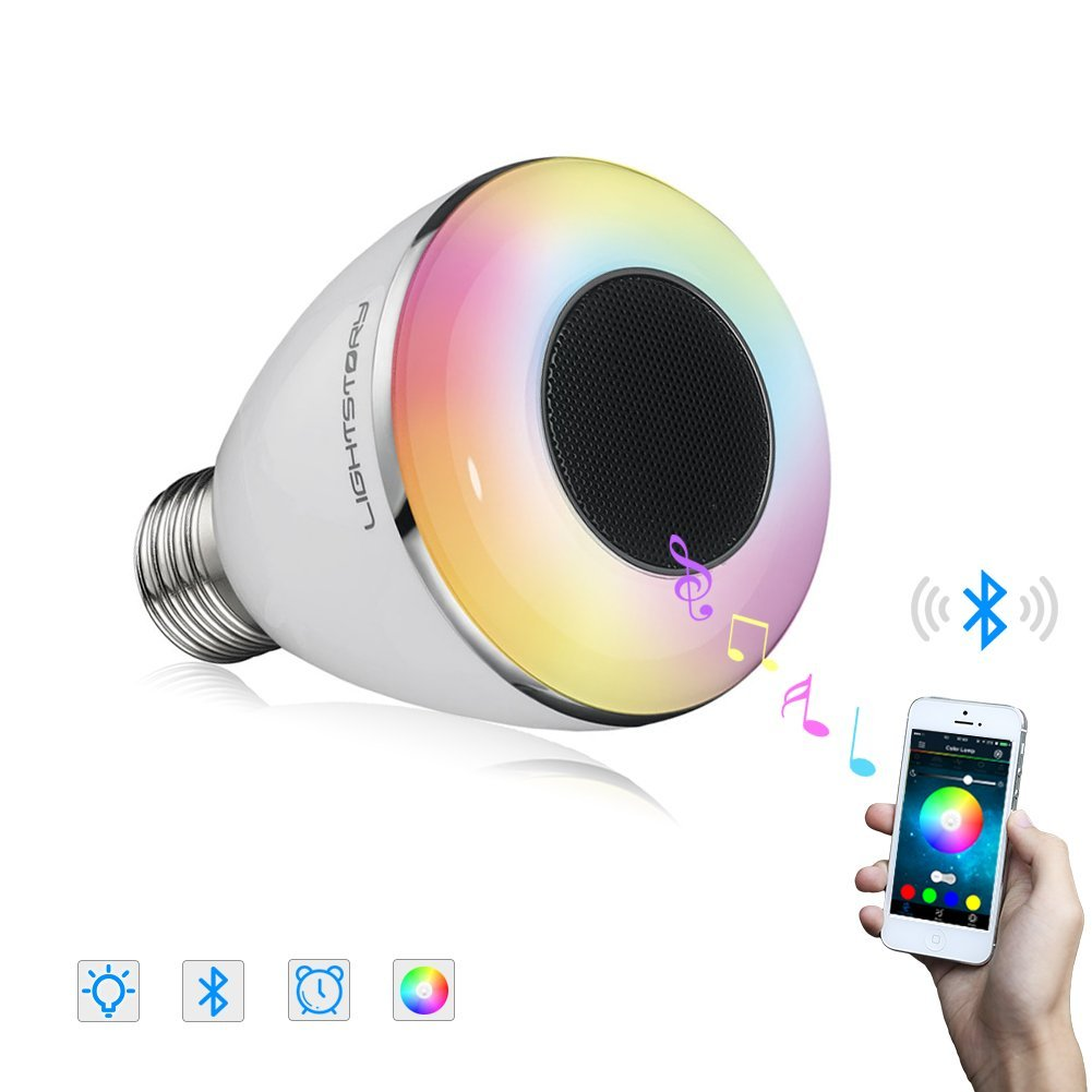 Lightstory Bluetooth Light Bulb Speaker, BL08A