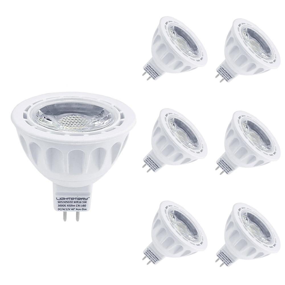 Lightstory MR16 LED Bulbs, 3000K, 6-Pack