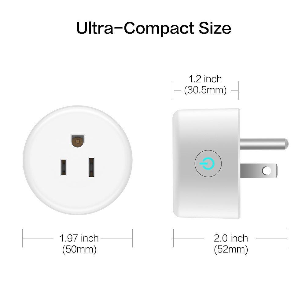 Lightstory Mini Smart Plug, 4Pack