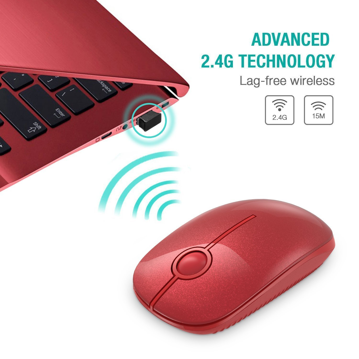 Lightstory Portable 2.4G Slim Wireless Mouse