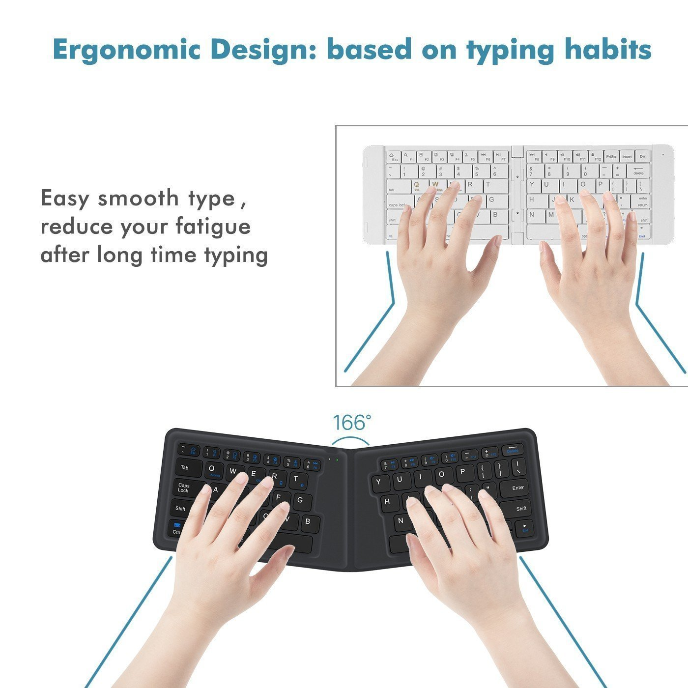 Lightstory Wireless Folding Keyboard