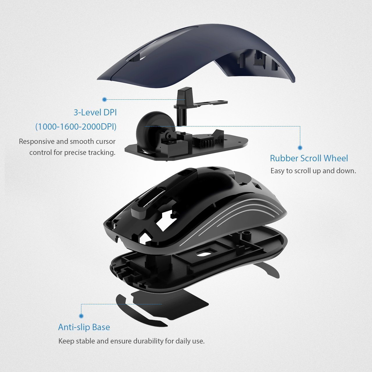Lightstory 4-Button Wired USB Optical Mouse