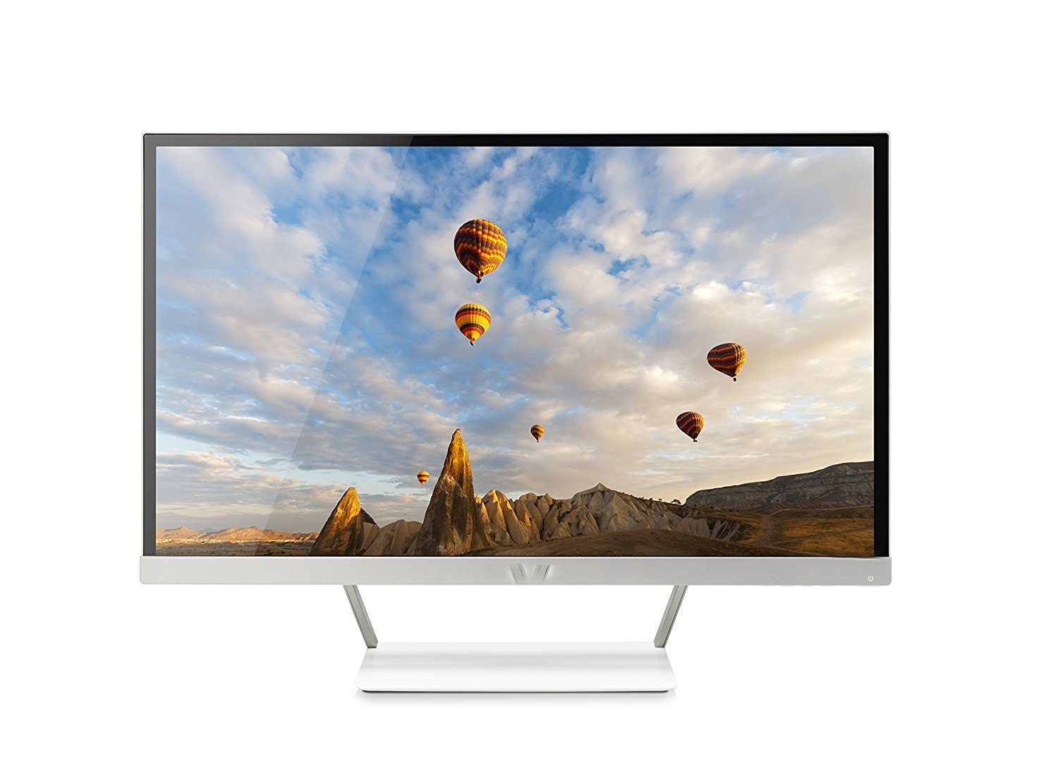 Lightstory 27-inch FHD IPS Monitor with LED Backlight, White and Silver