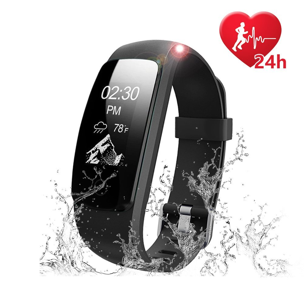 IP67 Waterproof Activity Tracker Heart Rate Monitor Watch,